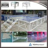 Étape en aluminium de plexiglass de bâti pour des événements et des projets de piscine
