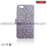 Capa de couro para celular personalizada para iPhone 6/7 / 8