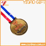 Customedの実行のための正方形の記念品の金属メダル(YB-m-015)