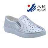 Glitter PU parte superior de la moda zapatos de mujer Bf161090