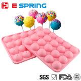 BPA Free Food 20e année Cavity Silicone Cake Lollipop Moule