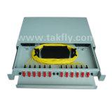 Porte 1u Rackmount scorrevole di FTTH 24 quadro d'interconnessione ottico della fibra da 19 pollici