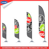 Publicidade ao ar livre Display Feather Bandeira da bandeira da praia