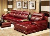 Sofá moderno do couro do canto da seção da mobília Home da sala de visitas (HX-SN060)
