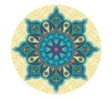 Het ronde Ontwerp van Mandala van de Mat van de Yoga met draagt Zak