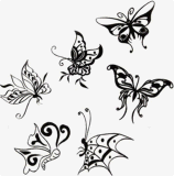 стикер Tattoo конструкции бабочки способа водоустойчивый временно