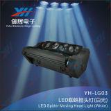 Indicatore luminoso capo mobile del ragno del LED (bianco)