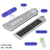 Ventas calientes de la fábrica la integración de la luz de calle solar con PIR teledirigido