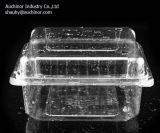 Ясным контейнер Clamshell волдыря Thermoforming пластичным прикрепленный на петлях любимчиком для торта и плодоовощ