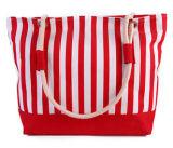 Tela di canapa delle donne di modo e sacchetto di cuoio della spiaggia dell'unità di elaborazione (BDX-161061)