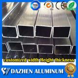 Perfil de aluminio anodizado de la protuberancia de aluminio de la aleación del tubo rectangular de plata del cuadrado