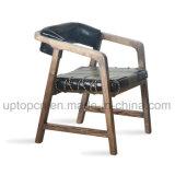 A mobília de madeira da sala de visitas ajustou-se com a cadeira dobro do braço da cor e a mesa redonda (SP-CT706)