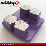 Chaussure de meulage d'étage en béton de diamant en métal pour la machine de Husqvarna/HTC/Lavina/Werkmaster