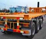 Tri-essieux 20FT conteneur semi-remorque, conteneur de basculement de remorque