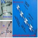 Especificación galvanizada del alambre de púas de la maquinilla de afeitar (XA-RW009)