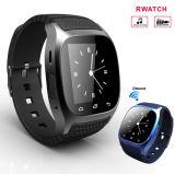 새로운 M26 Bluetooth 지능적인 시계 다이얼 SMS를 가진 호화스러운 손목 시계 R 시계 Smartwatch는 Samsung 인조 인간 전화를 위한 보수계를 생각나게 한다