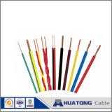 Bt 450/750V no fio do cabo elétrico único condutor do fio de cobre do fio elétrico