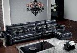 Sofá de couro moderno do couro genuíno da sala de visitas do sofá (SBL-H008)