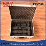 Caja de herramientas con chapa de aluminio