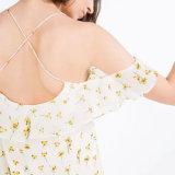 نمو نساء [شفّون] توقّف أعلى زهرة يطبع [بكلسّ] ملابس أنابيب ثوب