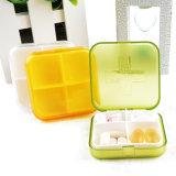 4つのコンパートメントプラスチック小型の丸薬および薬物の収納箱