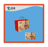 Sacchetto di acquisto del documento della maniglia della corda del cotone di disegno semplice con stampa di marchio