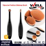 Da escova confortável macia densa da composição do cabelo humano escova cosmética oval profissional