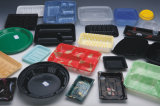 Contaiers plástico que faz a máquina com o empilhador para BOPS o material (HSC-510570C)