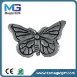 Pin promozionale della farfalla del metallo 3D con Finished d'argento di Anitque