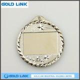 도전 동전을 던지는 주문 금속 메달 공백 금 은메달