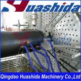 Ligne de enroulement d'extrusion renforcée double par acier de conduit d'égout de mur de HDPE