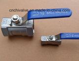 Una pieza de válvula de bola roscada de acero inoxidable (válvula de bola 1PC)