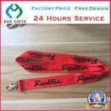 Logotipo de fábrica personalizada al por mayor de la impresión Promoción cuerda de seguridad