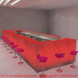 現代レストランの設計プロジェクトのワインのレストランの家具の固体表面のDinks棒レストランのカウンターセット
