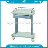 AG-Lpt002A avec un chariot médical à ABS d'utilisation de fonctionnement d'infirmière de tiroir