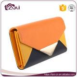 Бумажник кредитной карточки девушок конструкции способа и портмоне, бумажник PU кожаный для держать монетки карточек деньг