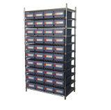 Affichage de fil chromée durable étagère avec trémie de stockage (WSR23-6214)