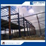 Taller industrial prefabricado prueba de la estructura de acero de la construcción del terremoto del metal móvil del diseño