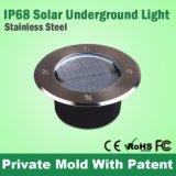 IP68 lampe de piscine de lumière souterraine de jardin solaire en acier inoxydable IP68