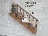 Amici del gatto del panno morbido della decorazione sulla decorazione di legno della casa di Laders-Natale