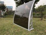 Звуконепроницаемые пластмассовых материалов из алюминия двери из поликарбоната затенения дождь навесами