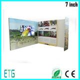 cartões do vídeo do folheto de anúncio da tela de 7inch LCD