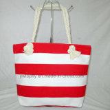方法ハンドバッグの新しい携帯用綿ロープの肩浜袋
