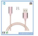 Зарядный кабель USB оптового нейлона Braided магнитный для Типа-C