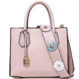 Bolsa de couro real dos sacos de ombro do Tote das mulheres do estilo o mais atrasado com a cinta larga Emg5107 da flor