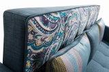 Base di sofà del re Fabric con il sacchetto dello scomparto