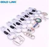 Kundenspezifisches Metallleder Keychain Auto-Firmenzeichen-Schlüsselring-Förderung-Geschenk