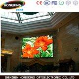 Écran visuel de publicité polychrome d'intérieur de la longue distance DEL de la visibilité P6