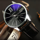 315 het waterdichte Polshorloge van de Prijs van het Ontwerp van het Glas van het Horloge van de Manier van Mensen Blauwe Goedkope