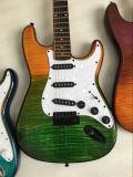 Str.-Art-zweifarbige elektrische Gitarre mit Gitarren-hartem Kasten